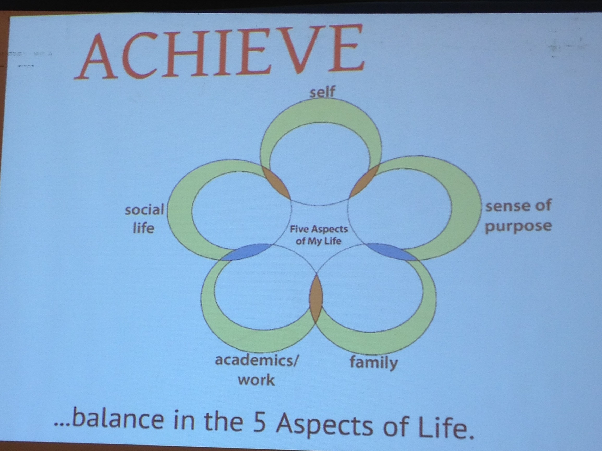 """The Five """"Bubbles"""" of Life, from the ONE CORE and Coach Pia Nazareno."""