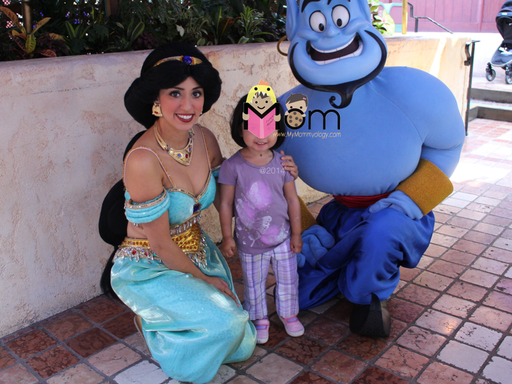Jasmine, the Genie and a very happy Jamie.