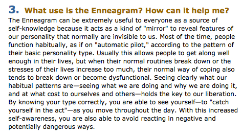 Source:  Enneagram Institute's FAQs