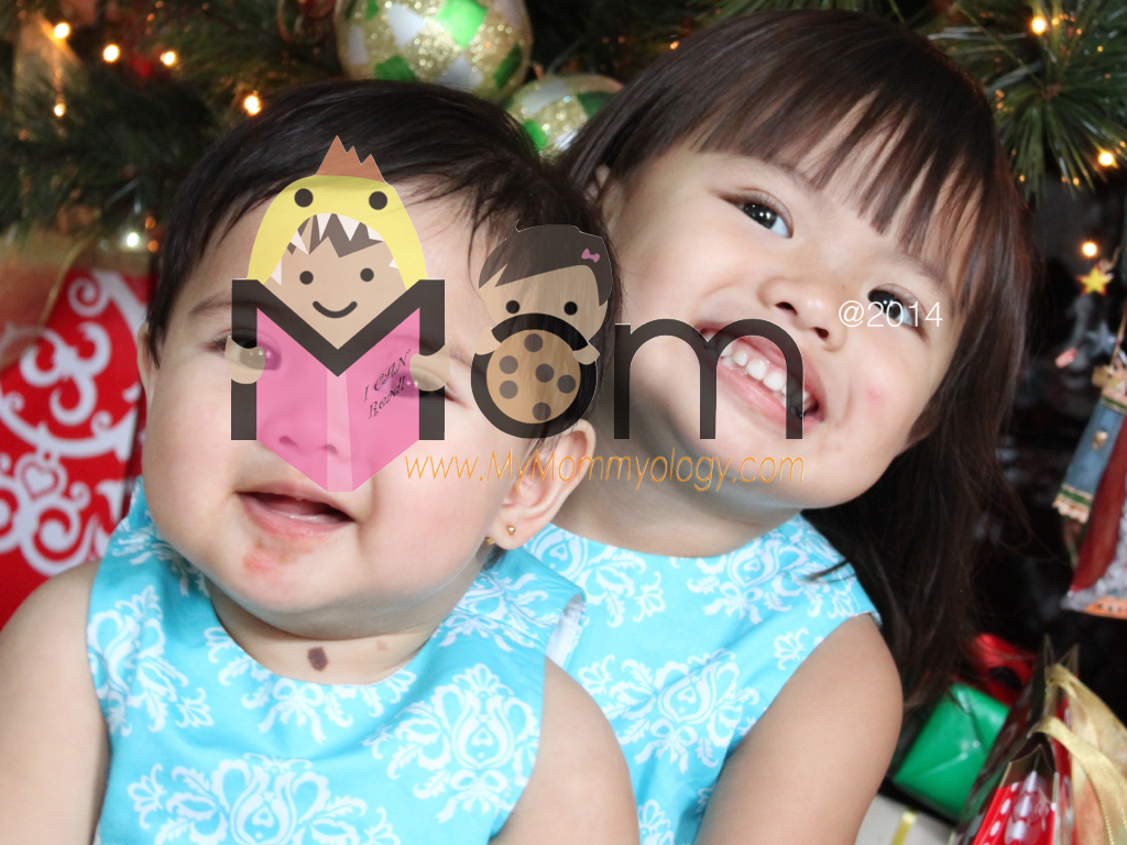 """Their first Christmas as """"sisters""""! :)"""