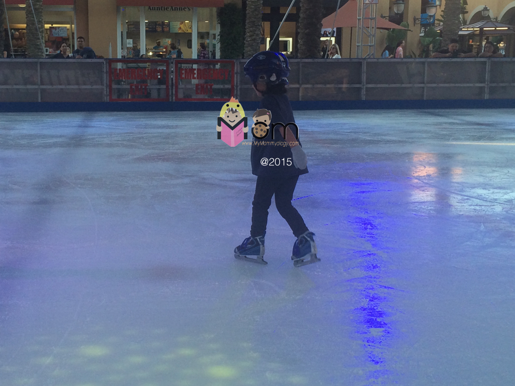 Sam's very first time in an ice skating rink!