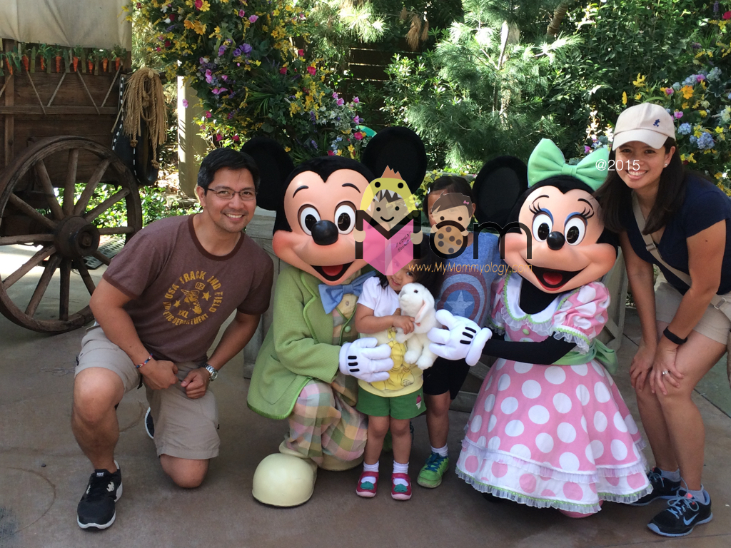Spending Easter with Mickey and Minnie