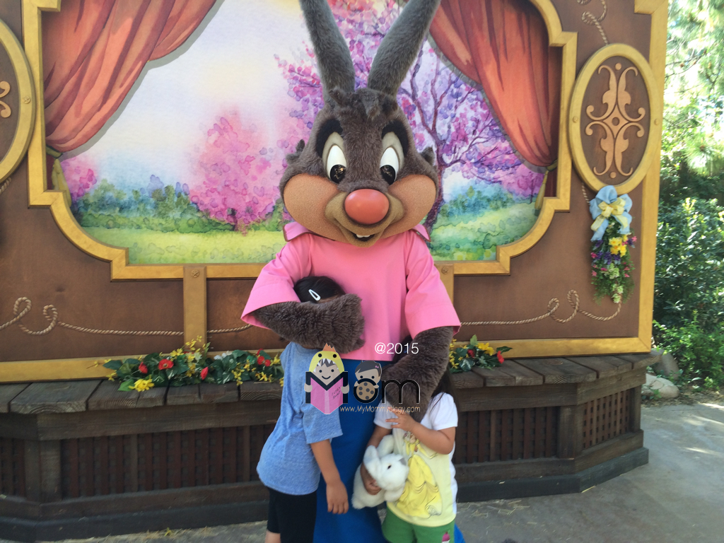 We met all these new Disney Bunny characters because Jamie wanted to go and see them!  And Sam had a blast.